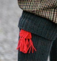 Hand Knitted Ties for Stockings & Garters 2