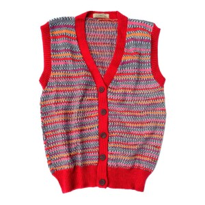 Fairisle Sleeveless Cardigan