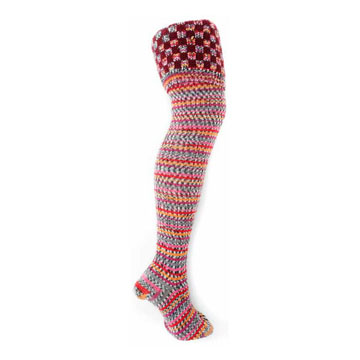Fairisle Thigh High Festival Socks