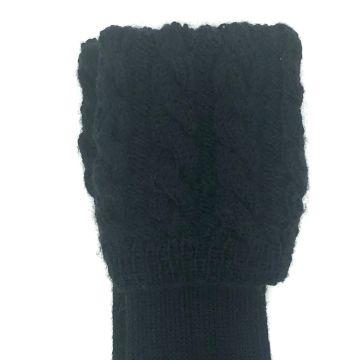 Black cable kilt hose 9-10
