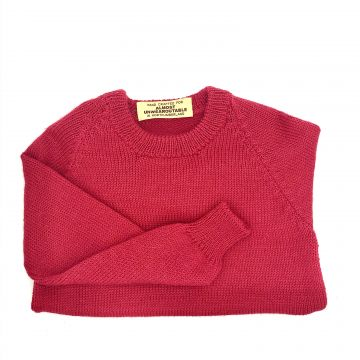 Cherry red round neck 2-3 y