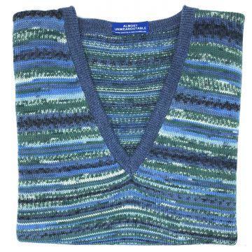 "Cloudy Blue sleeveless V neck 42"""