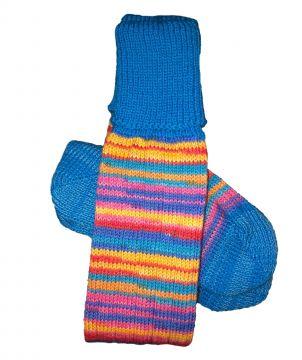 Bright Stripe/Turquoise classic stocking 5-6