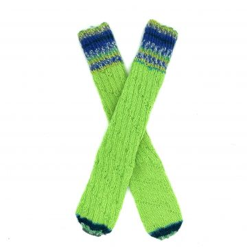Lime green boot socks 1-2 y