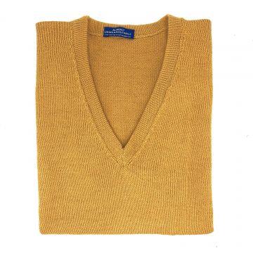"""Mustard sleeveless V neck 42"""""""
