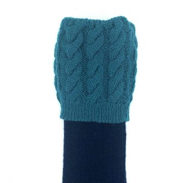 Navy, teal cables 9-10