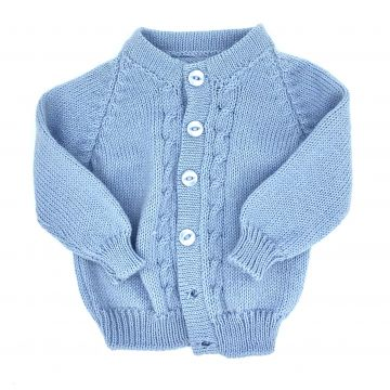 Pale blue cable cardigan 0-3 m