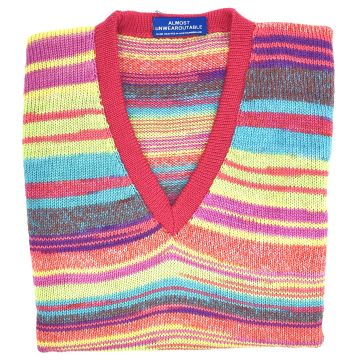 """Pink merino sleeveless V neck 38"""""""