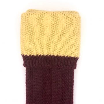 Plum and yellow 8 ply 11-12