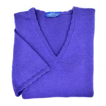"Purple short sleeve tunic 41"""