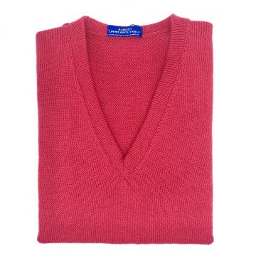 Raspberry sleeveless V neck  34""