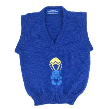 Royal blue teddy 12-18 m
