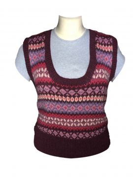 Traditional Fairisle Sleeveless Jersey