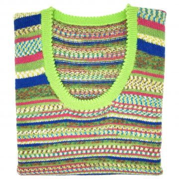 Tropical & lime sleeveless scoop neck 36""