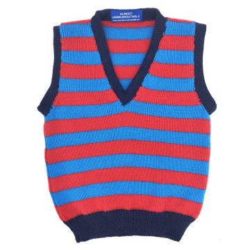 Turquoise/red stripe 18m - 2y