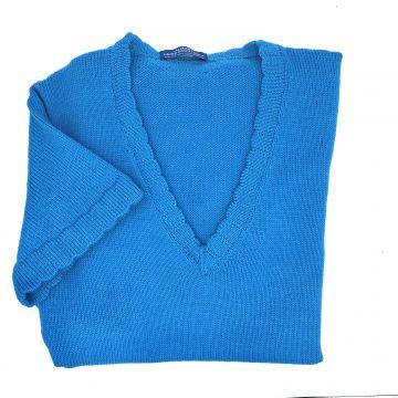 "Turquoise cap sleeve tunic 38"""