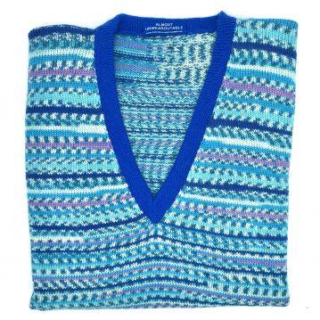"""Water blue sleeveless V neck 40"""""""