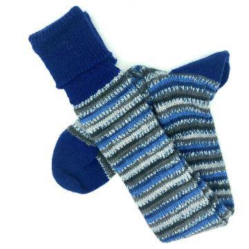 Blue grey stripe/navy 11-12