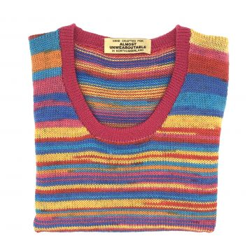 Bright stripe scoop neck 7-8 y