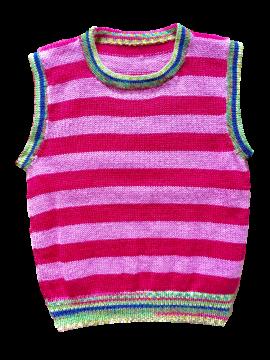 Childrens Striped Sleeveless Jersey