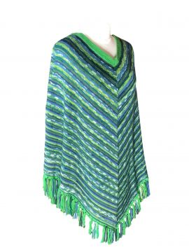 English green poncho