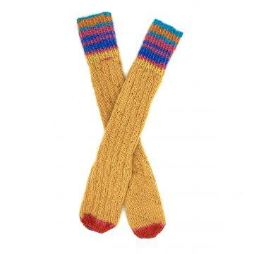 Mustard boot socks 1-2 y