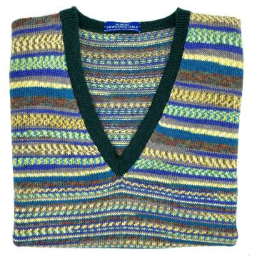 "New blue sleeveless V neck 42"""