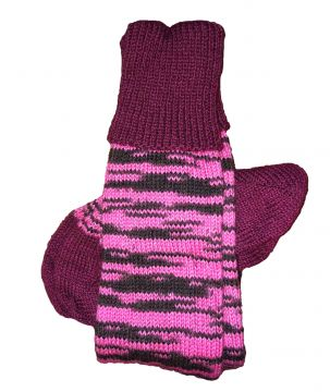 Pink Tiger Stripe classic stockings 5-6