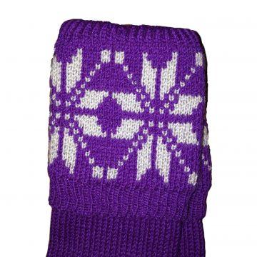 Purple, pale blue Snowflake. 8 ply 5/6