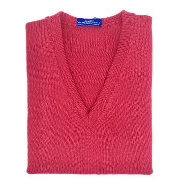 "Raspberry sleeveless V neck  34"""