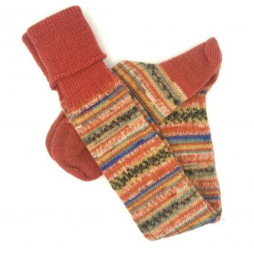 Sunset/rust classic stockings 9-10