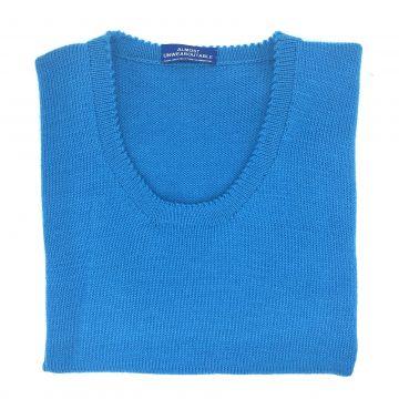 """Turquoise sleeveless U neck  37"""""""