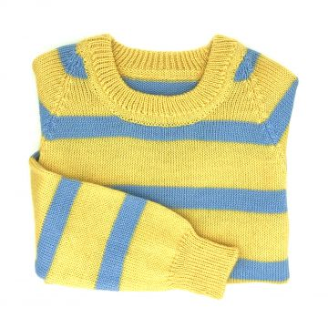 Yellow stripe jumper 5-6 y