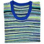 "Blue green sleeveless round neck 38"""
