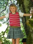 Childrens Striped Sleeveless Jersey