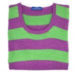 """Magenta & emerald stripe sleeveless V neck 38"""""""