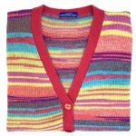 """Pink merino sleeveless cardigan 42"""""""