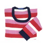 Pink & red stripes 36""