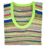 """Tropical & lime sleeveless scoop neck 36"""""""