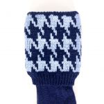 Navy, pale blue Houndstooth 7-8