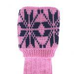 Rose pink, navy Snowflake 7-8