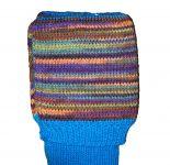 Turquoise, multi stripes. 5-6
